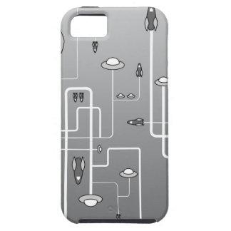 Vuelo espacial retro iPhone 5 funda