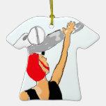 Vuelo feliz ornamento para arbol de navidad