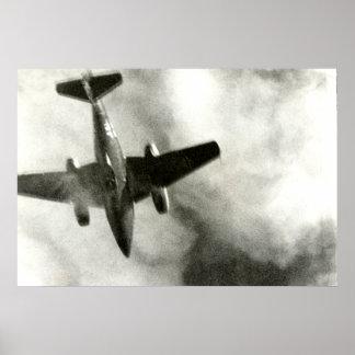 Vuelo final 1945 de un ME-262 Póster