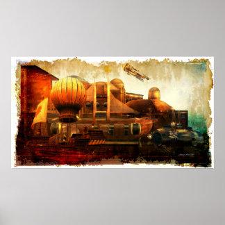 Vuelo glorioso de Steampunk Poster