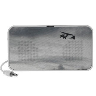 Vuelo gris notebook altavoces