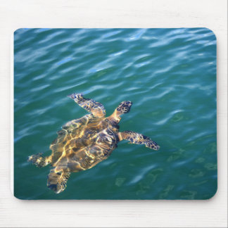 Vuelo Honu Mousepad - tortuga de mar verde