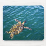 Vuelo Honu Mousepad - tortuga de mar verde Tapetes De Raton