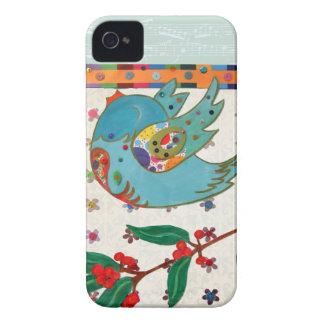 Vuelo lindo del pájaro y canto iPhone 4 cobertura