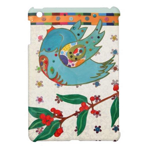 Vuelo lindo del pájaro y canto iPad mini funda