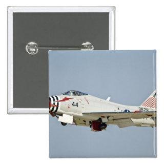 Vuelo naval norteamericano de la caza a reacción d pin cuadrada 5 cm