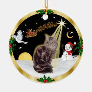 Vuelo nocturno - gato de Coon de Maine tabby 10 Adorno