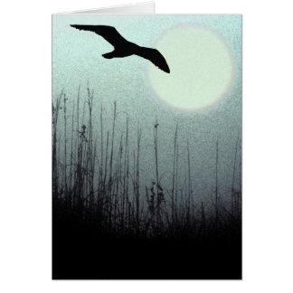 Vuelo nocturno tarjeta de felicitación