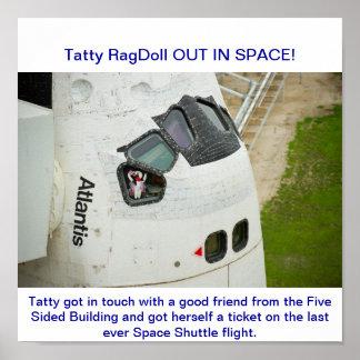Vuelo pasado del transbordador espacial impresiones
