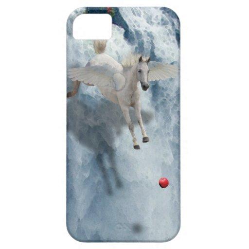 Vuelo Pegaso y caja del teléfono del arte de la fa iPhone 5 Case-Mate Carcasas