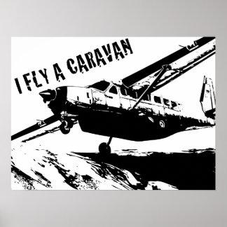 """""""VUELO poster de una CARAVANA"""""""