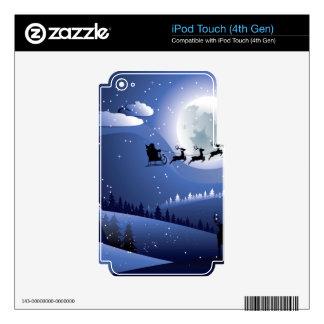 Vuelo Santa y bosque del invierno iPod Touch 4G Skins