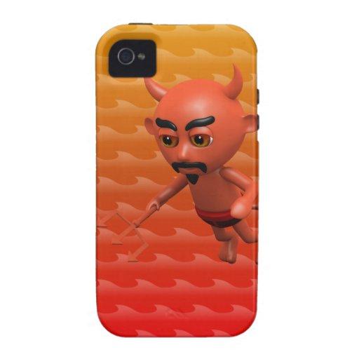 Vuelo travieso del diablo 3d (editable) iPhone 4 carcasa