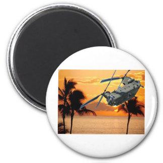 Vuelo tropical del helicóptero imán redondo 5 cm