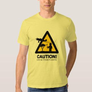 Vuelos de la baja altitud camisas