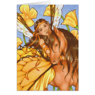 Vuelos de la suposición - tarjeta de hadas bonita