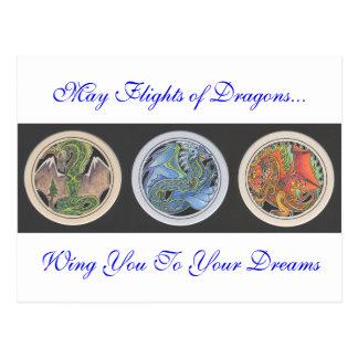 Vuelos de mayo de dragones… postal