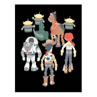 Vuelta 6 de los amigos de Toy Story el   Toy Story Tarjeta Postal