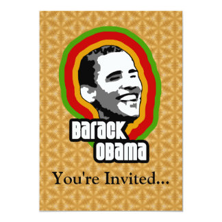 "Vuelta de Barack Obama Invitación 5"" X 7"""