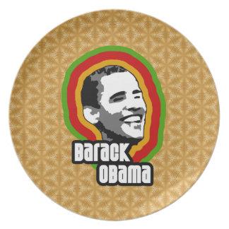 Vuelta de Barack Obama Platos Para Fiestas