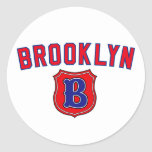 Vuelta de Brooklyn Etiquetas Redondas