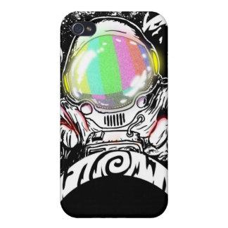 Vuelta de dios del astronauta iPhone 4 carcasa