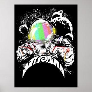 vuelta de dios del astronauta póster