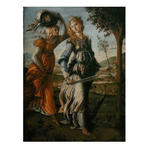 Vuelta de Judith a Bethulia por Botticelli Postal