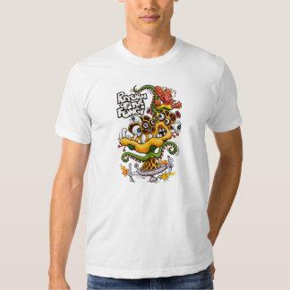 Vuelta de la camiseta del blanco de los hongos playera