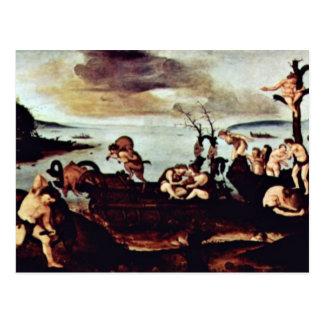 Vuelta de la caza de Piero di Cosimo Postal
