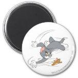 Vuelta de la caza de Tom y Jerry Imán Para Frigorifico