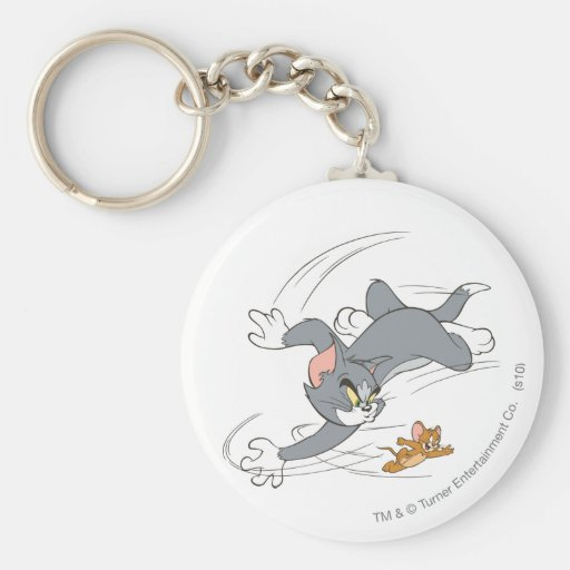 Vuelta de la caza de Tom y Jerry Llaveros Personalizados