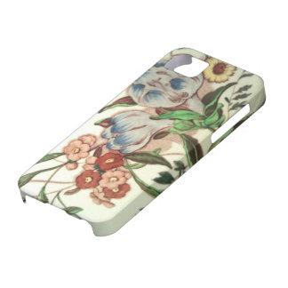 Vuelta de la célula del modelo del azafrán del funda para iPhone SE/5/5s