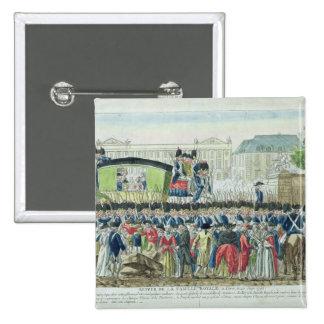 Vuelta de la familia real francesa a París Pin Cuadrada 5 Cm