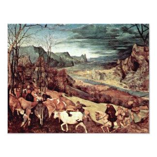 Vuelta de la manada (el mes de octubre o de Novemb Invitación 10,8 X 13,9 Cm