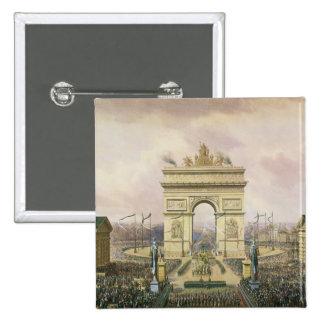 Vuelta de las cenizas del emperador a París Pin Cuadrada 5 Cm