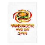 Vuelta de las hamburguesas anuncios personalizados