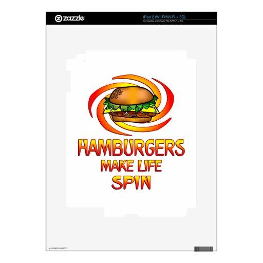 Vuelta de las hamburguesas calcomanías para iPad 2