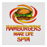 Vuelta de las hamburguesas posters