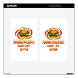 Vuelta de las hamburguesas pegatina skin para kindle fire