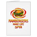 Vuelta de las hamburguesas tarjetón