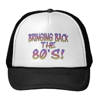 Vuelta de los años 80 gorras de camionero