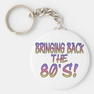 Vuelta de los años 80 llavero redondo tipo pin
