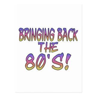 Vuelta de los años 80 postales