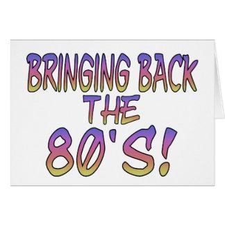 Vuelta de los años 80 tarjeta de felicitación