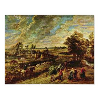 """Vuelta de los campesinos de The Field de Rubens Invitación 4.25"""" X 5.5"""""""