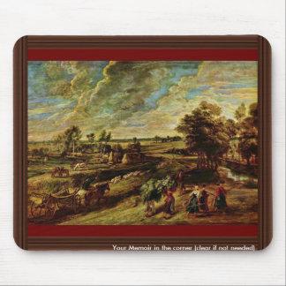 Vuelta de los campesinos de The Field de Rubens Mouse Pads