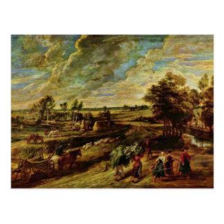 Vuelta de los campesinos de The Field de Rubens Postales