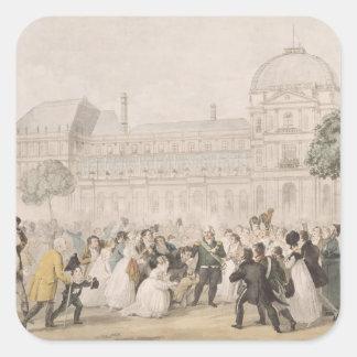 Vuelta de Louis XVIII a París el 8 de julio de 18 Calcomania Cuadradas