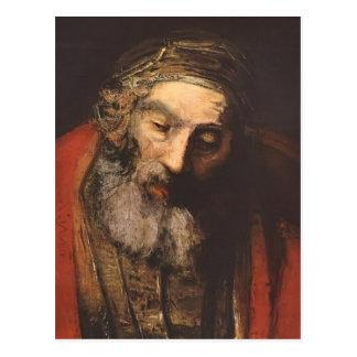 Vuelta de Rembrandt del hijo despilfarrador (fragm Tarjetas Postales